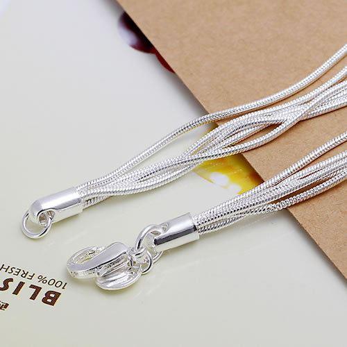 UK-Shop-925-Argento-Bracciale-catena-PLT-Braccialetto-Cavigliera-collegamento-solido-Bracciale-Charm miniatura 29