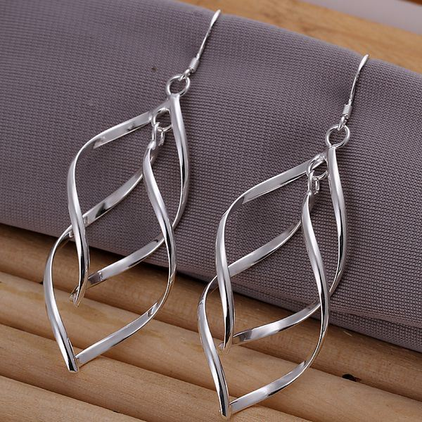 UK-Shop-925-SILVER-Plt-Grande-Goccia-Dangle-Earrings-Hoop-Gancio-Donna-Regalo miniatura 44