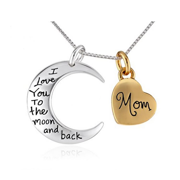 UK-Shop-Silver-039-I-LOVE-YOU-TO-THE-MOON-AND-BACK-039-Engraved-Pendant-Necklace-Mum thumbnail 20