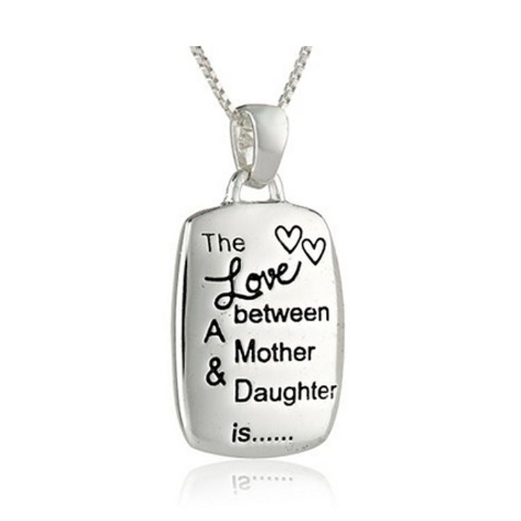 925 Silver Pltgol The Love Between Mother Daughter Is Forever