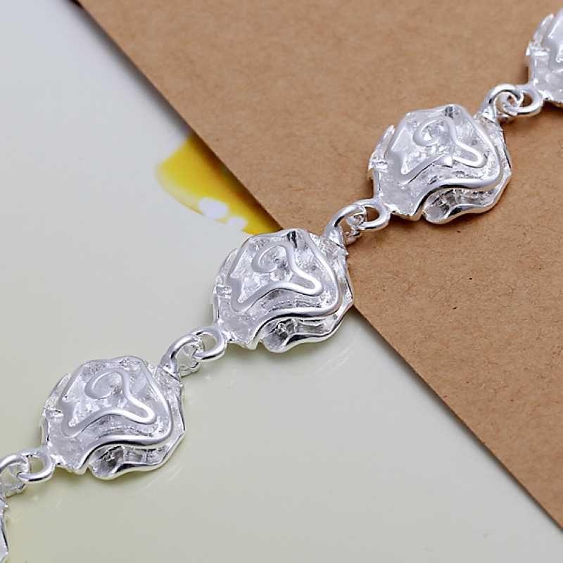 UK-Shop-925-Argento-Bracciale-catena-PLT-Braccialetto-Cavigliera-collegamento-solido-Bracciale-Charm miniatura 40