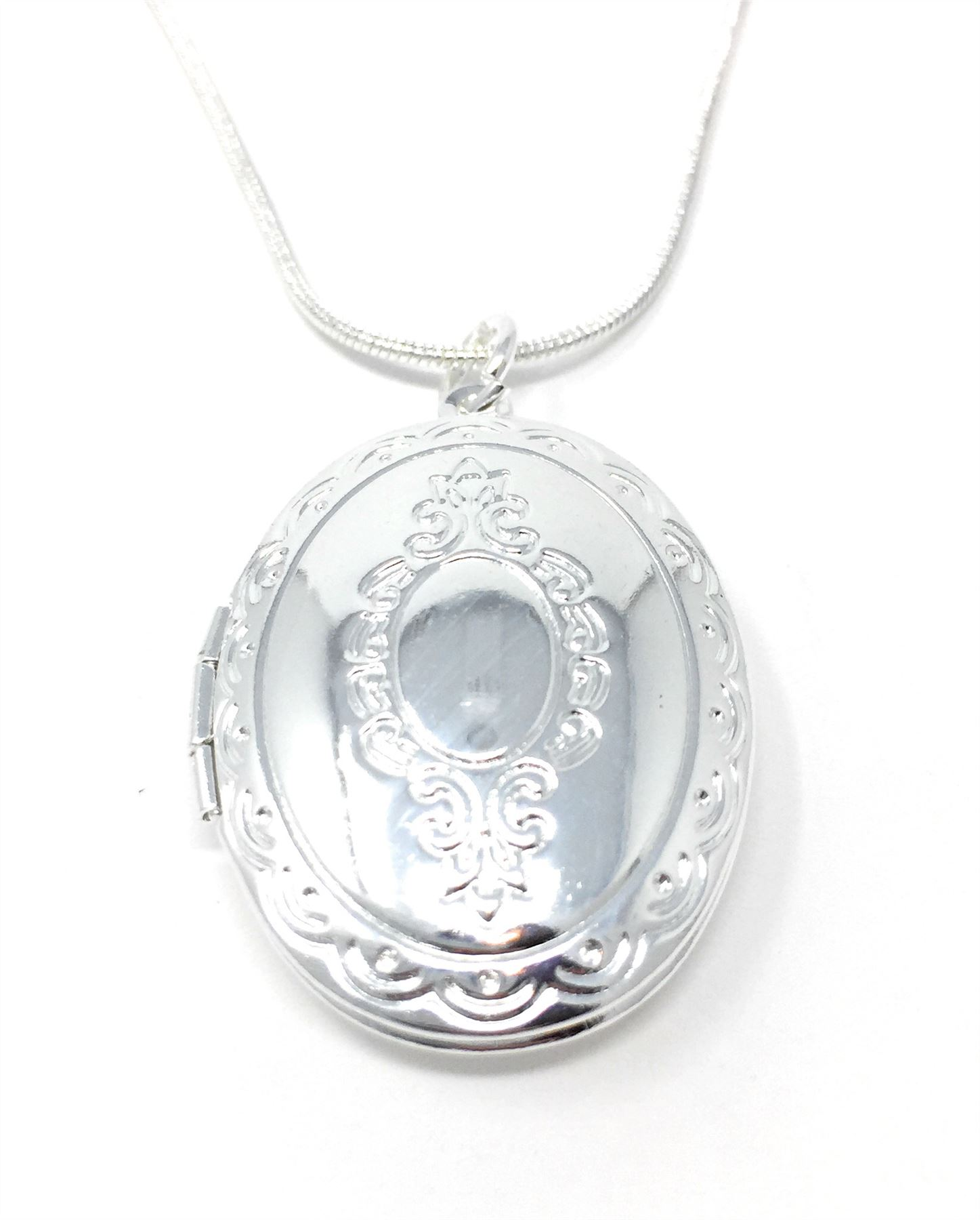 UK-925-SILVER-PLT-PENDANT-PHOTO-PICTURE-LOCKET-NECKLACE-18-034-INCH-CHAIN-LADIES thumbnail 33