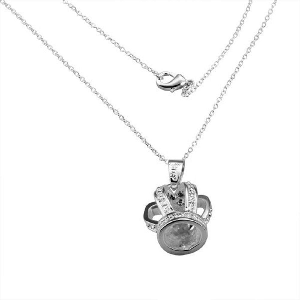 Reino-Unido-925-de-Plata-Colgante-Collar-18-034-pulgadas-cadena-Plt-Senoras-Para-Mujer-Regalo-larga miniatura 34