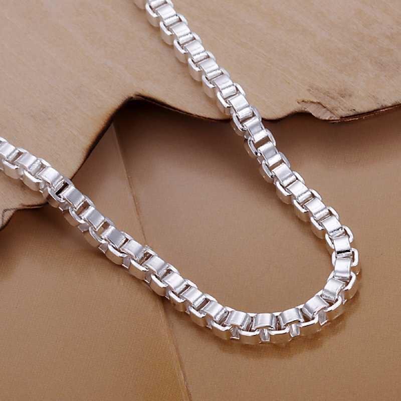 UK-Shop-925-Argento-Bracciale-catena-PLT-Braccialetto-Cavigliera-collegamento-solido-Bracciale-Charm miniatura 47