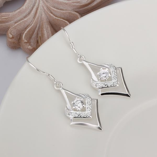 UK-Shop-925-SILVER-Plt-Grande-Goccia-Dangle-Earrings-Hoop-Gancio-Donna-Regalo miniatura 35