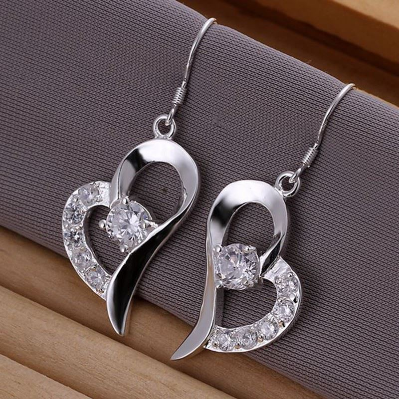 UK-Shop-925-SILVER-Plt-Grande-Goccia-Dangle-Earrings-Hoop-Gancio-Donna-Regalo miniatura 5