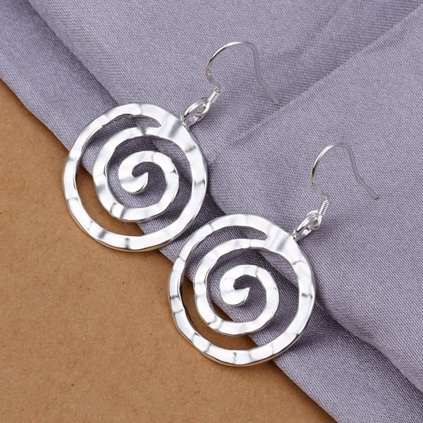 UK-Shop-925-SILVER-Plt-Grande-Goccia-Dangle-Earrings-Hoop-Gancio-Donna-Regalo miniatura 47