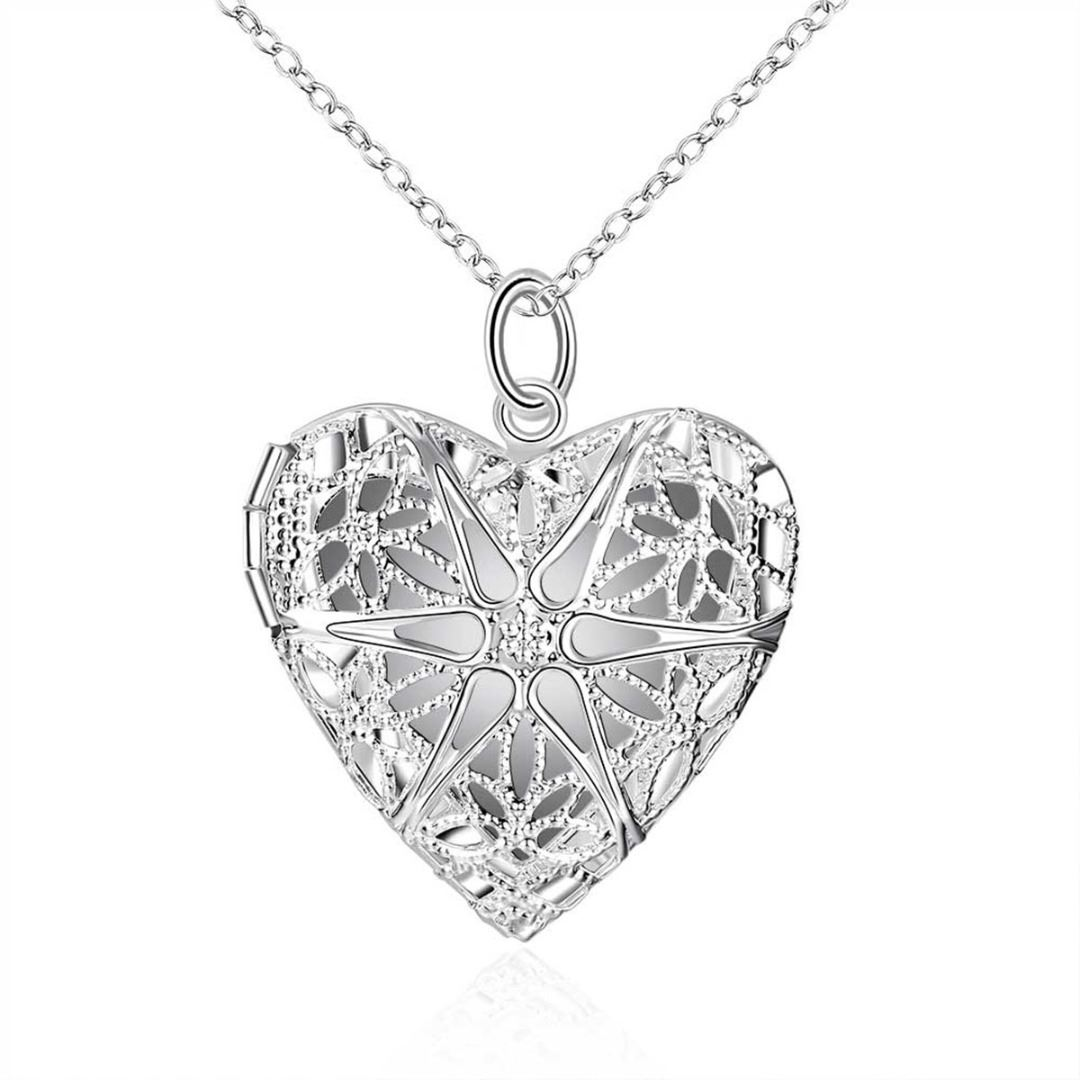 UK-925-SILVER-PLT-PENDANT-PHOTO-PICTURE-LOCKET-NECKLACE-18-034-INCH-CHAIN-LADIES thumbnail 18