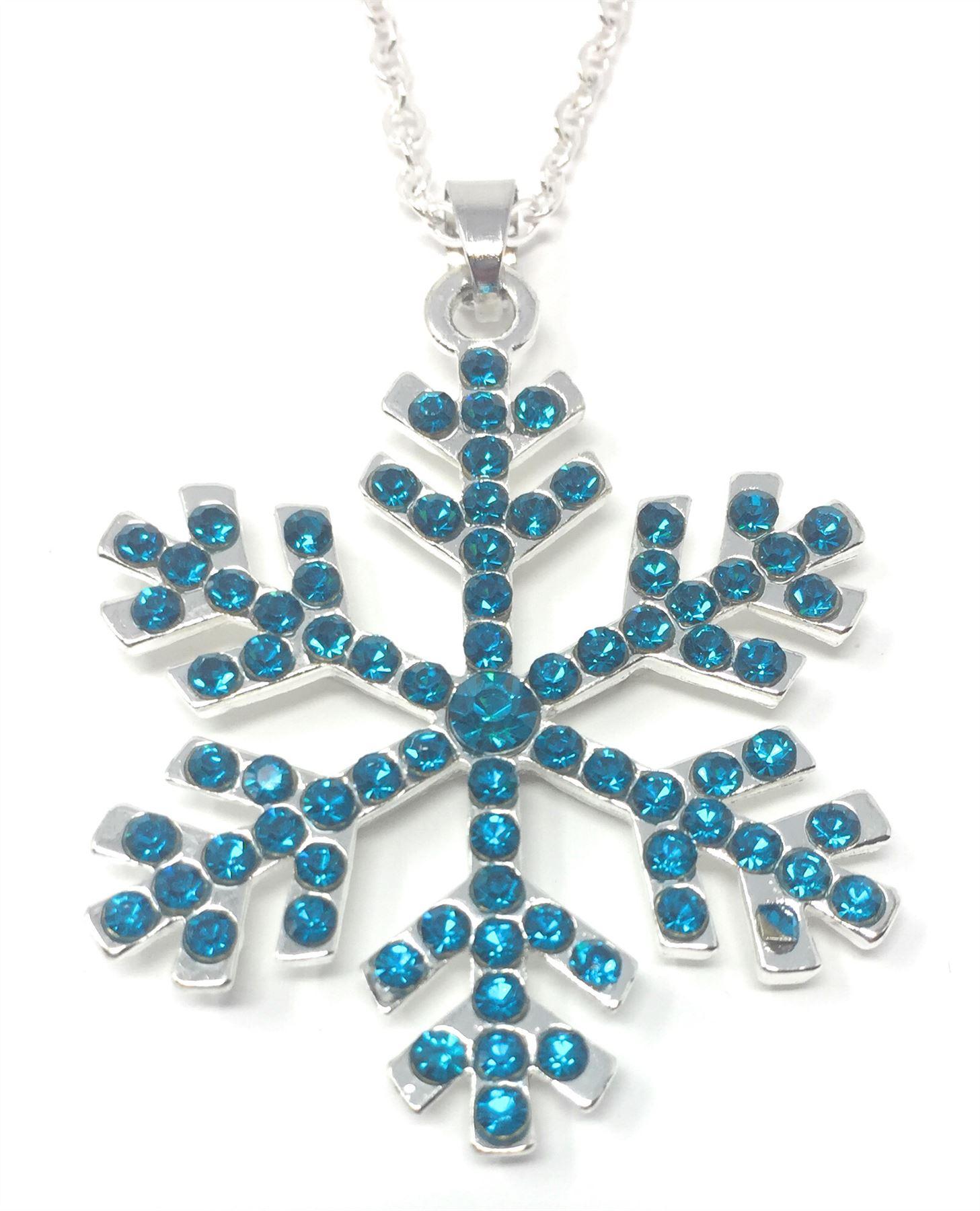 Rhinestone crystal christmas snowflake pendant necklaces frozen rhinestone crystal christmas snowflake pendant necklaces frozen enamel aloadofball Choice Image