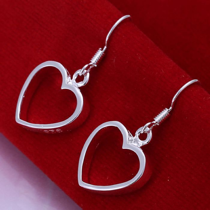 UK-Shop-925-SILVER-Plt-Grande-Goccia-Dangle-Earrings-Hoop-Gancio-Donna-Regalo miniatura 22