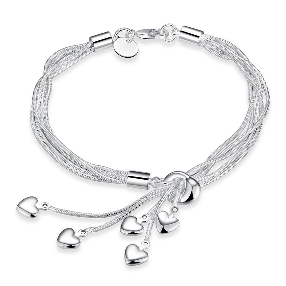 UK-Shop-925-Argento-Bracciale-catena-PLT-Braccialetto-Cavigliera-collegamento-solido-Bracciale-Charm miniatura 31