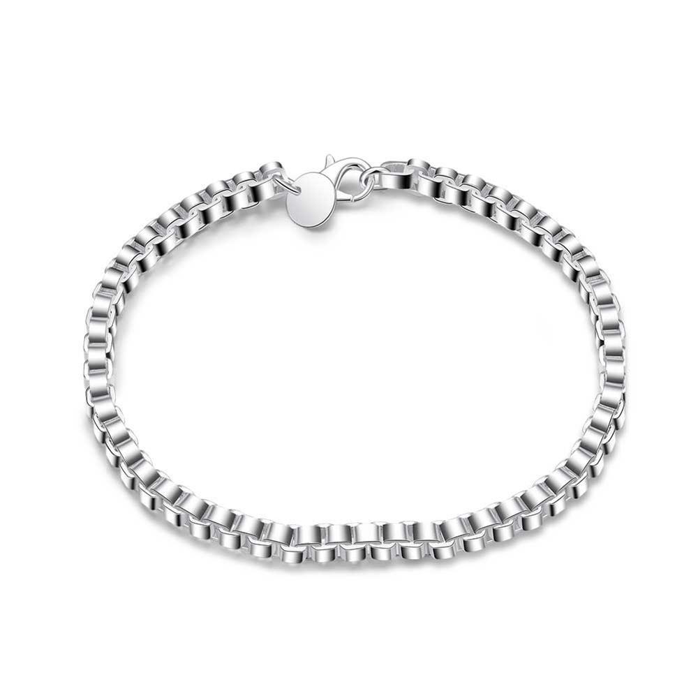 UK-Shop-925-Argento-Bracciale-catena-PLT-Braccialetto-Cavigliera-collegamento-solido-Bracciale-Charm miniatura 50