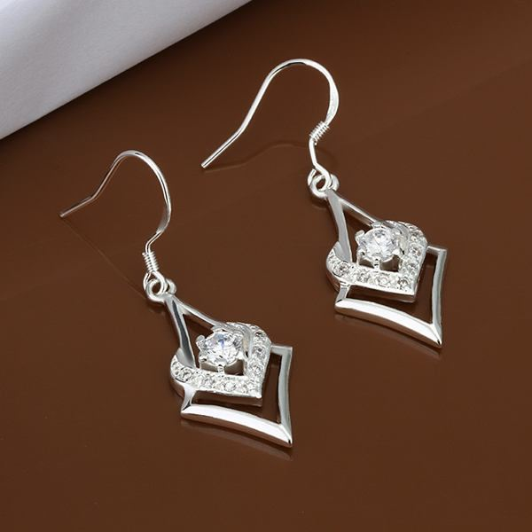 UK-Shop-925-SILVER-Plt-Grande-Goccia-Dangle-Earrings-Hoop-Gancio-Donna-Regalo miniatura 34