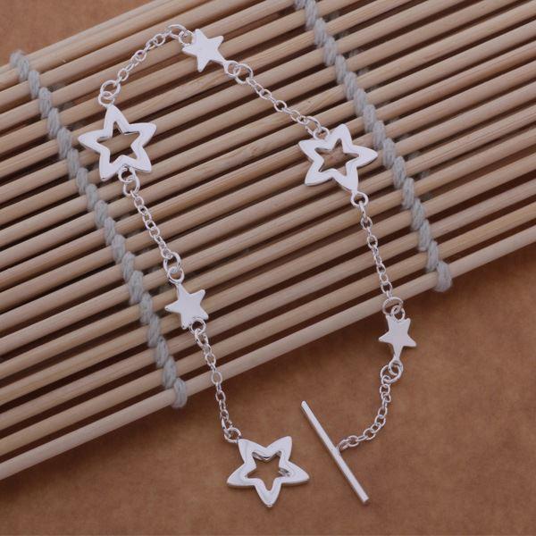 UK-Shop-925-Argento-Bracciale-catena-PLT-Braccialetto-Cavigliera-collegamento-solido-Bracciale-Charm miniatura 24