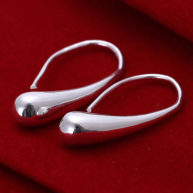 UK-Shop-925-STERLING-SILVER-PLT-LONG-DROP-DANGLE-HANGING-HOOK-EARRINGS-LARGE thumbnail 34