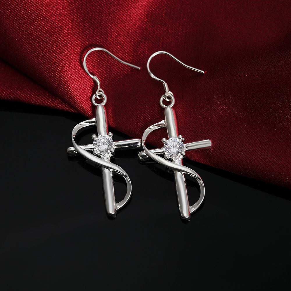 UK-Shop-925-SILVER-Plt-Grande-Goccia-Dangle-Earrings-Hoop-Gancio-Donna-Regalo miniatura 8