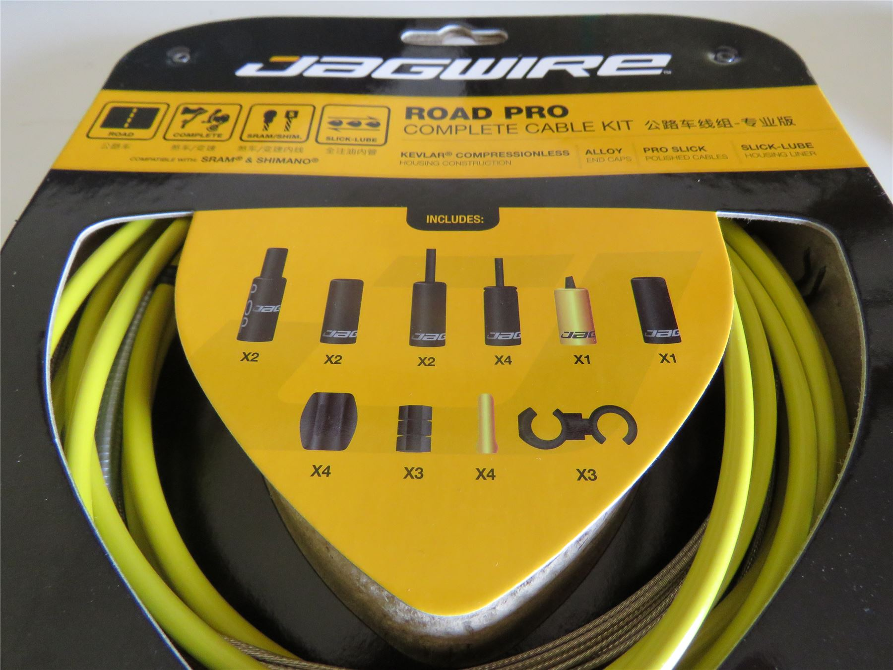 JAGWIRE ROAD PRO Complete Cable Kit Bicycle Brake Derailleur Cables BLACK
