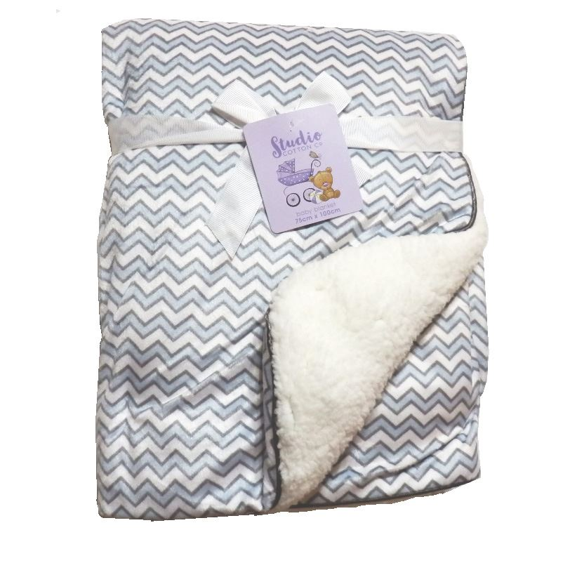 New Baby Born Soft Cosy Fleece Blanket 70cm x 70cm Moses Pram Basket Bed Crib