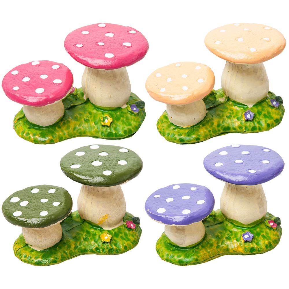 Miniature Fairy Garden Accessories Resin Toadstool Chairs