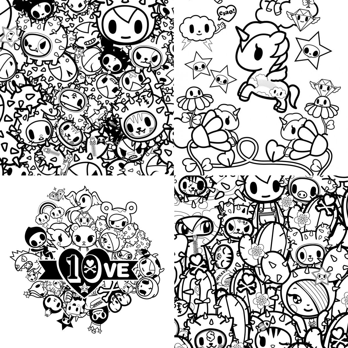 Tokidoki Coloring Pages Tokidoki Coloring Pages