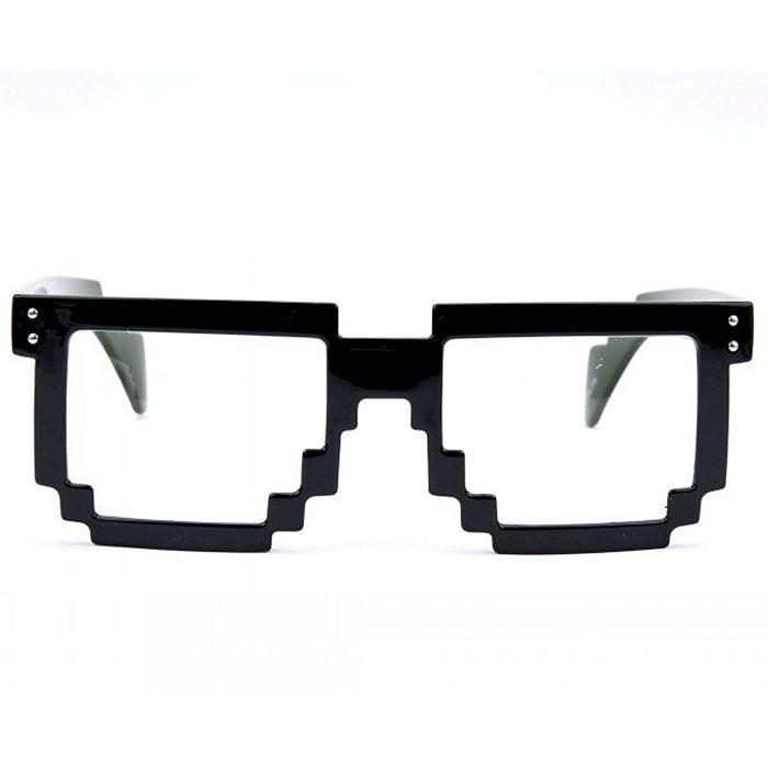 Pixel Sunglasses 8 Bit Geek Nerd Pixelated Eye Glasses