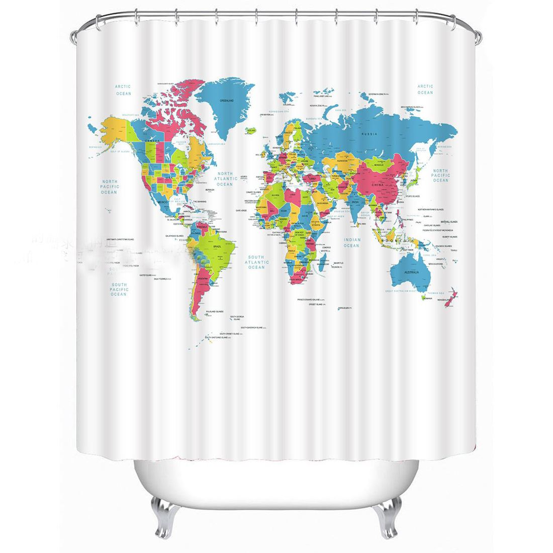 100 ideas world map shower curtain ebay on christmashappynewyears world map waterproof polyster shower curtain ebay gumiabroncs Gallery