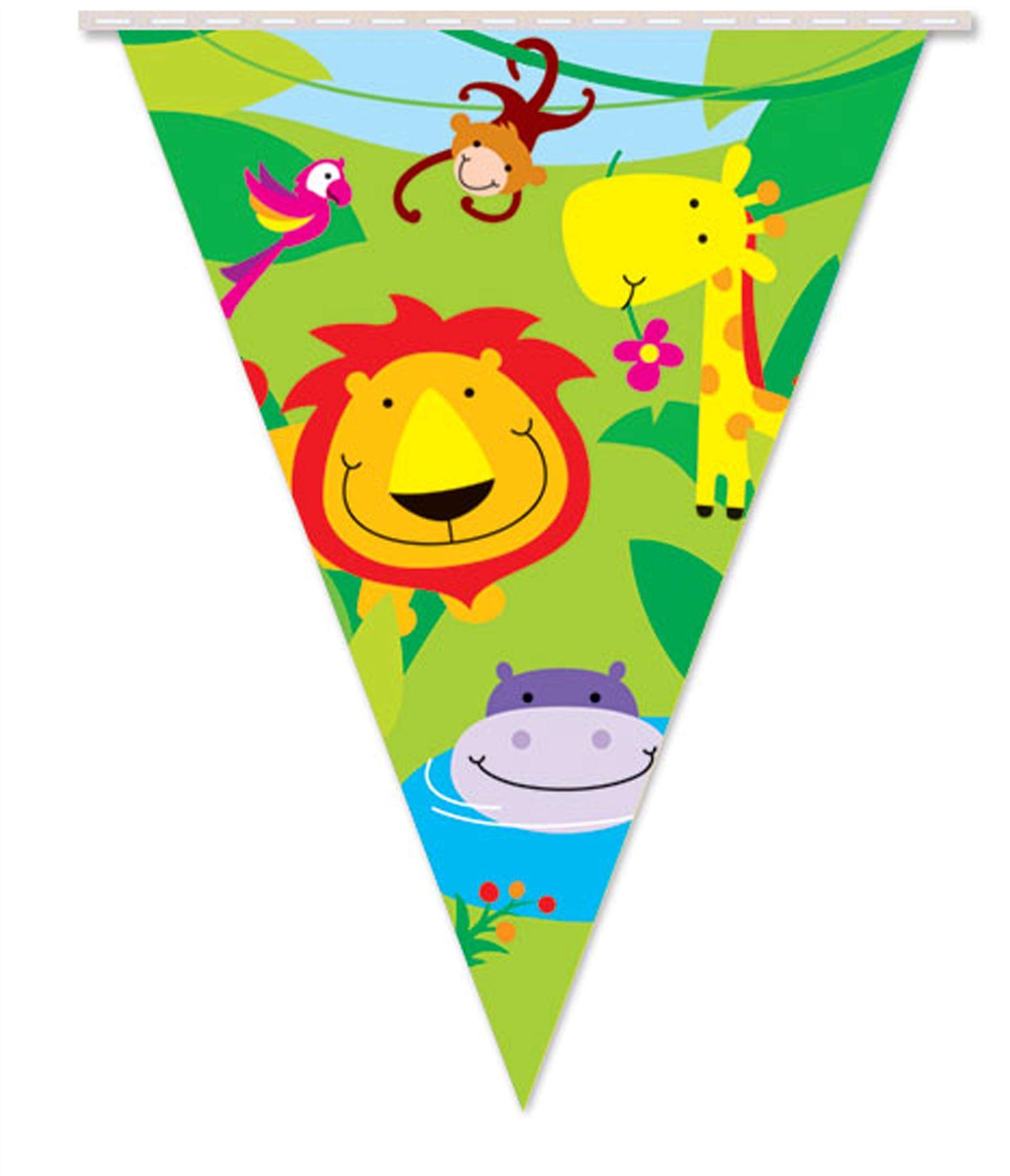 Jungle Garland Bunting Theme Party Banner Kids Children
