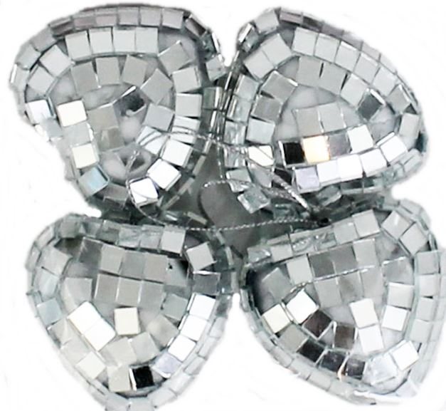 Disco Ball Party Decorations: Silver Mini Disco Mirror Ball Xmas Tree Bauble Home Party