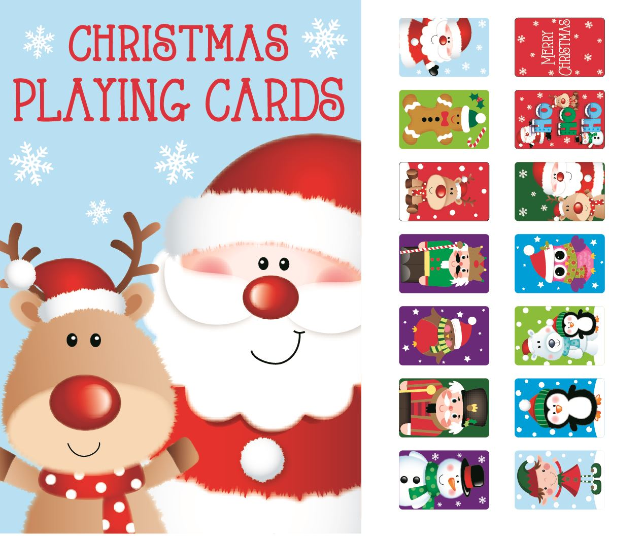Christmas Toys Cards : Child christmas playing cards stocking filler snap novelty