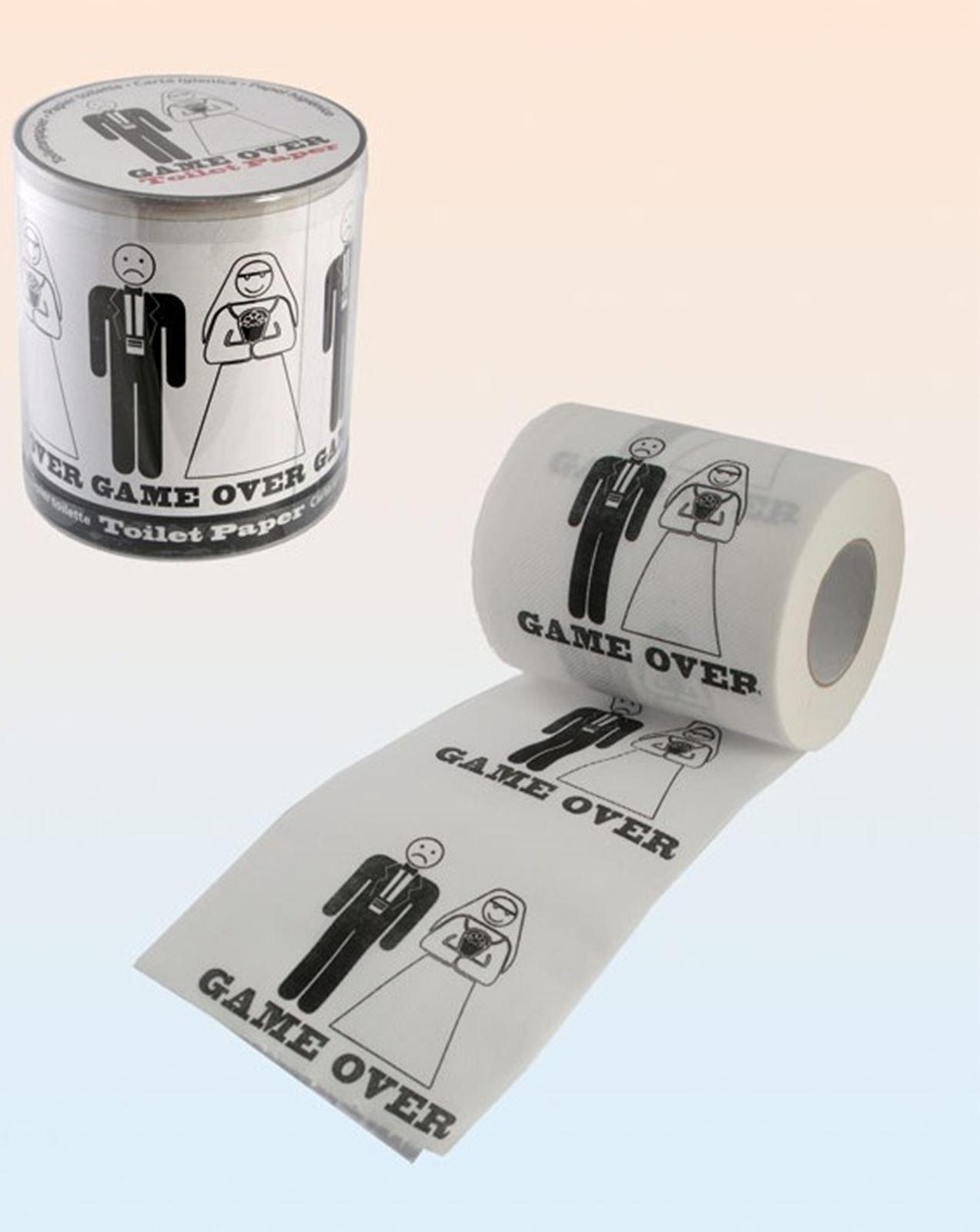 Game over papier toilette cadeau de mariage nouveauté fun roll party tissu décoration nouveau