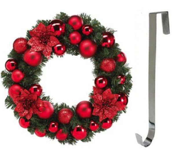 Metal silver colour wreath hanger christmas door for 3 wreath door decoration