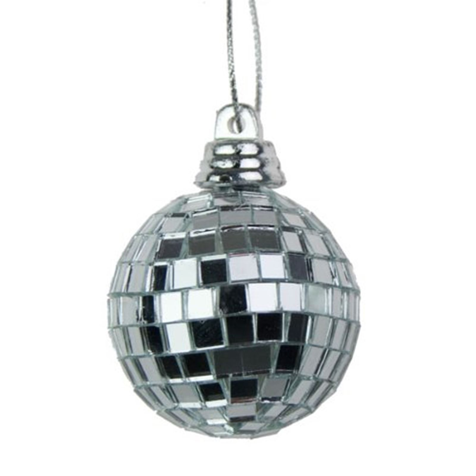 Christmas Disco Ball.Details About Silver Mini Disco Mirror Ball Xmas Tree Bauble Home Party Decorations Gift Craft