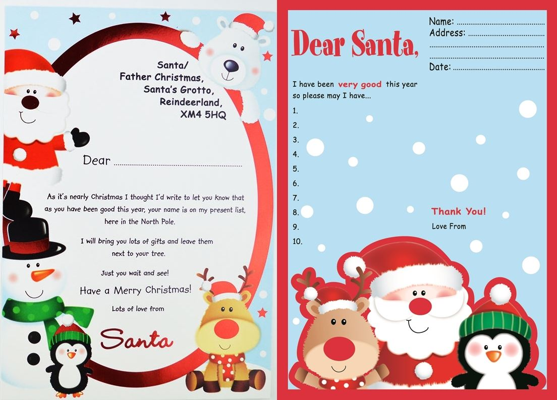 Father Christmas Wish List To Amp From Santa Letter Amp Reply