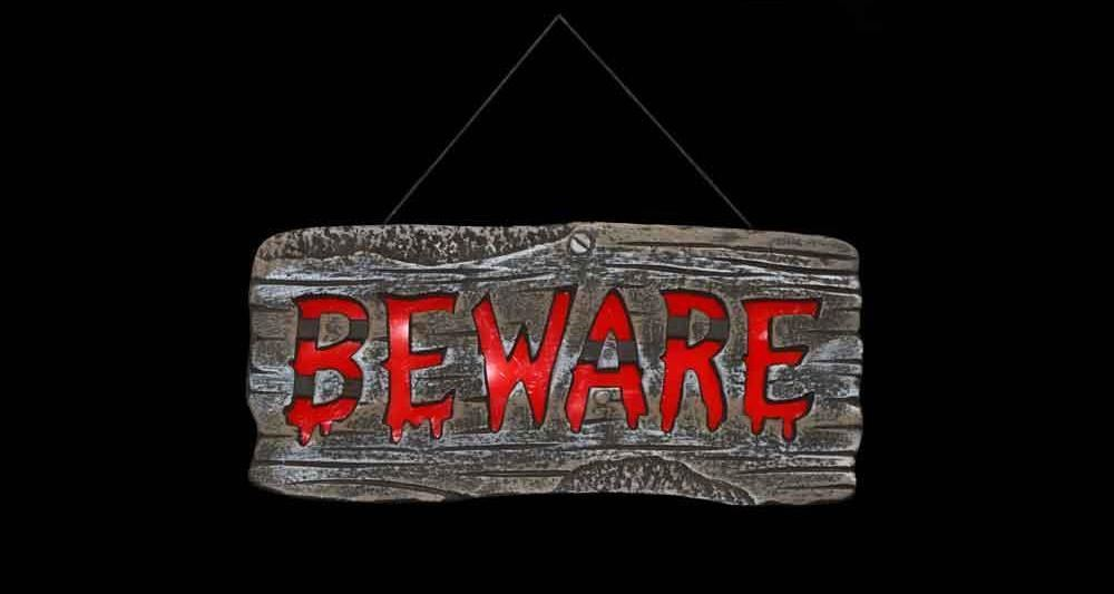 BEWARE OF PIRATES Warning Banner Sign Birthday party decoration