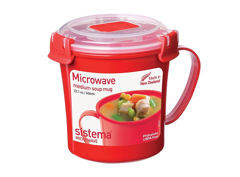 Sistema Micro-Ondes Soupe Tasse Support en Plastique 656 ml rapide ragoûts boissons chaudes Tasse de voyage