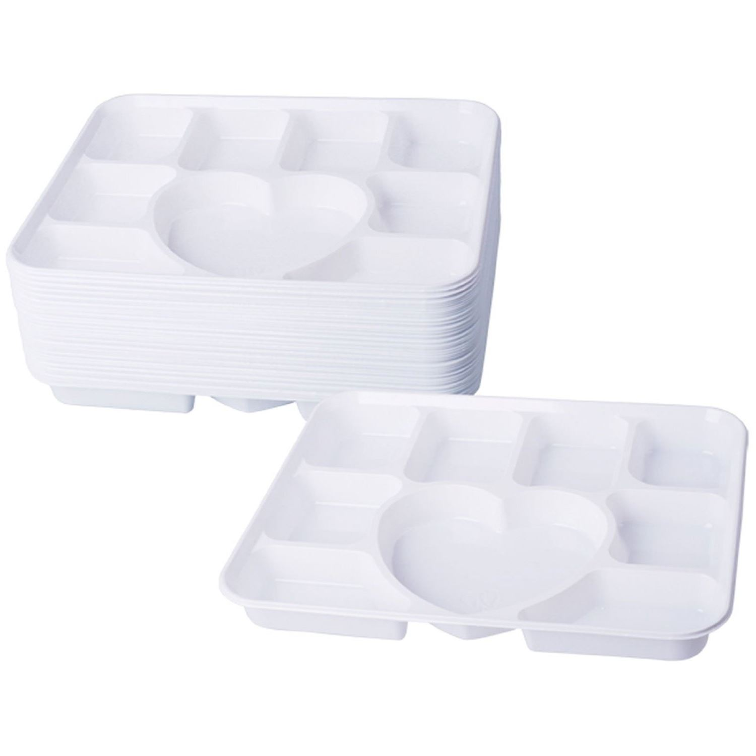 Compartment-Plastic-Dinner-Plates-50-pcs-Party-Home-  sc 1 st  eBay & Compartment Plastic Dinner Plates 50 pcs Party Home Food Disposable ...