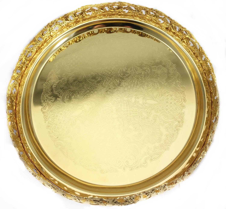 tray round mirror x decorative brass in nickel tn trays lighting and ring titan nickle p decor finish