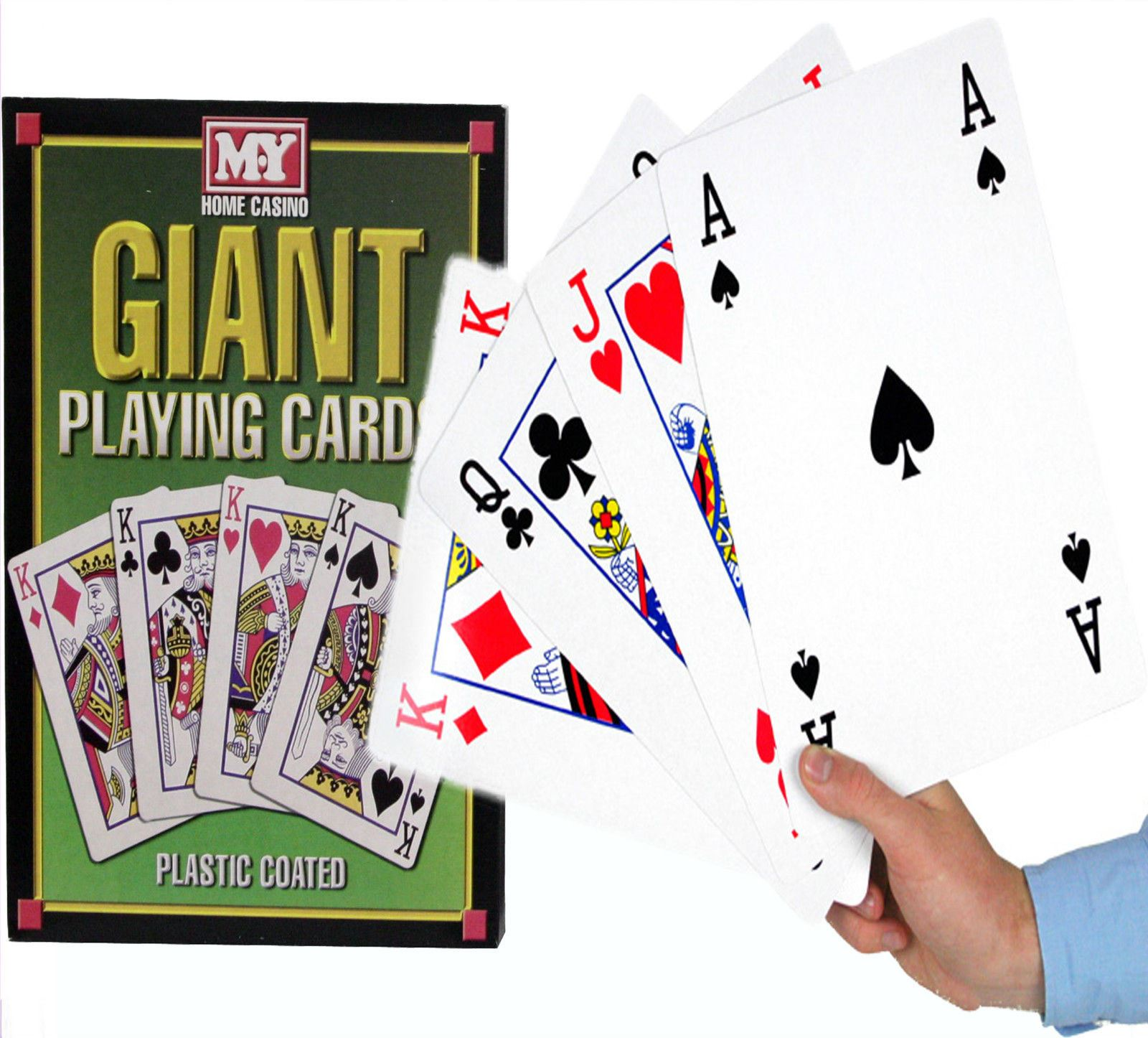 A4 Giant Jumbo Big Playing Cards Deck Family Party Game