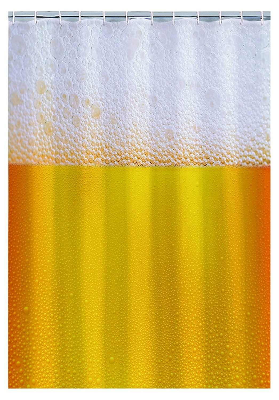 Details About Beer Design Shower Curtain Novelty Bath Bathroom Hooks Fun Home Gift Decoration