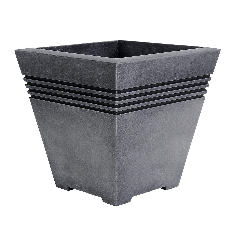 Milano 32cm Square Plastic Garden Planter Plant Pot ...