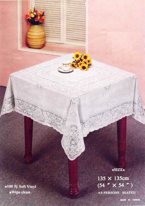 Vinyl Table Cloth Wipe Clean Home Decor Cover