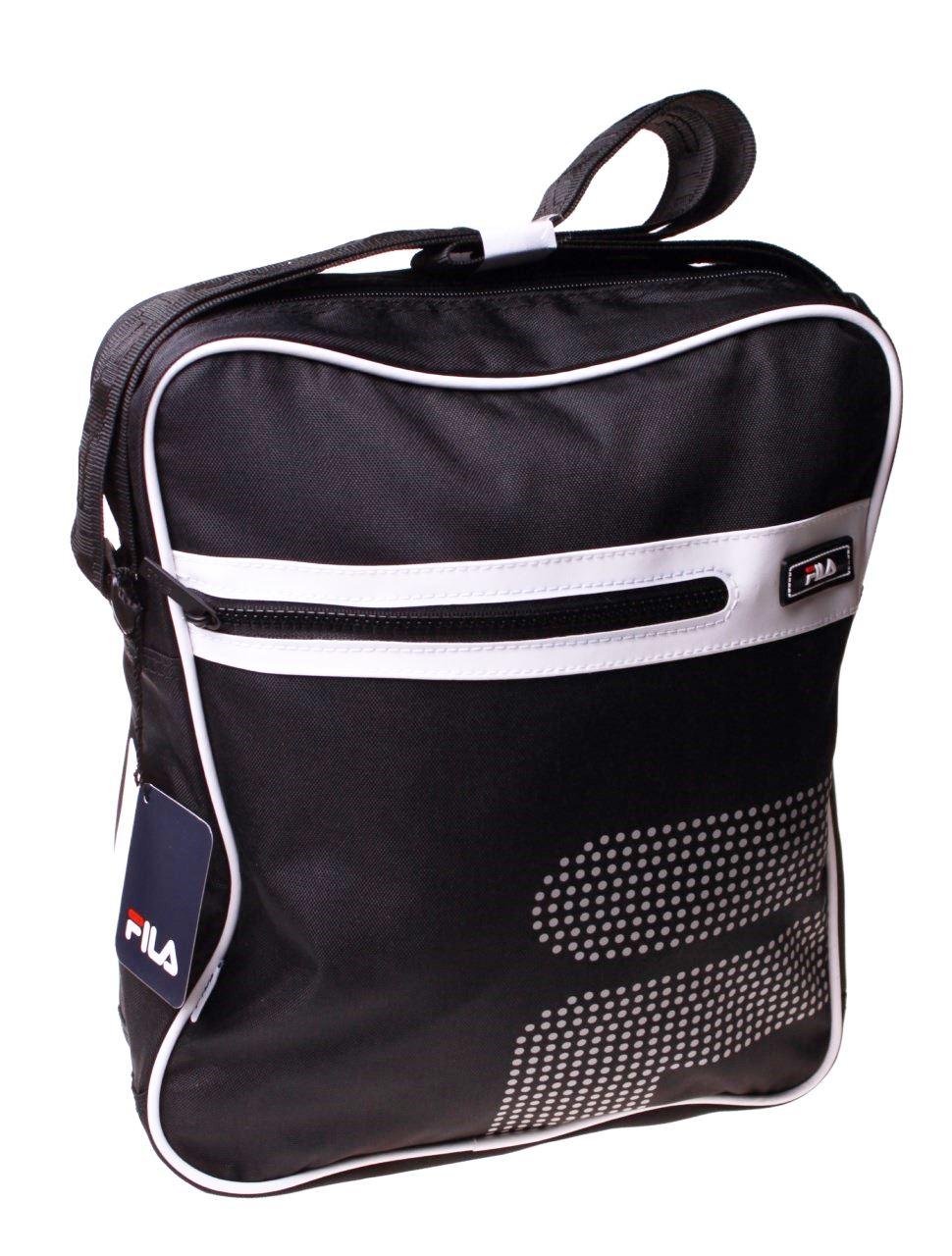 3d8830628fba Details about Fila Black Messenger Bag Travel Office Shoulder Satchel  School Gift Handbag Camp