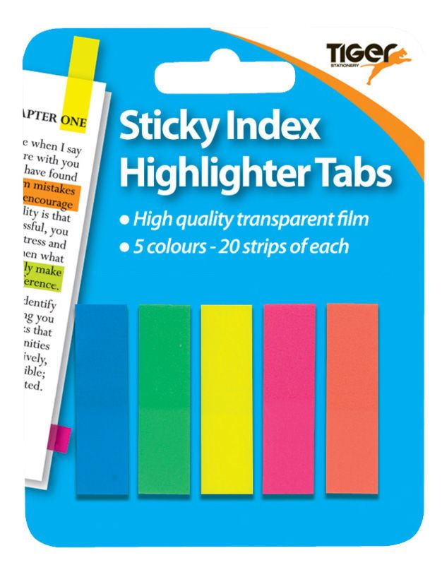 Bright Neon Sticky Tabs Semi-transparent Page Tabs Page Markers Index Flags