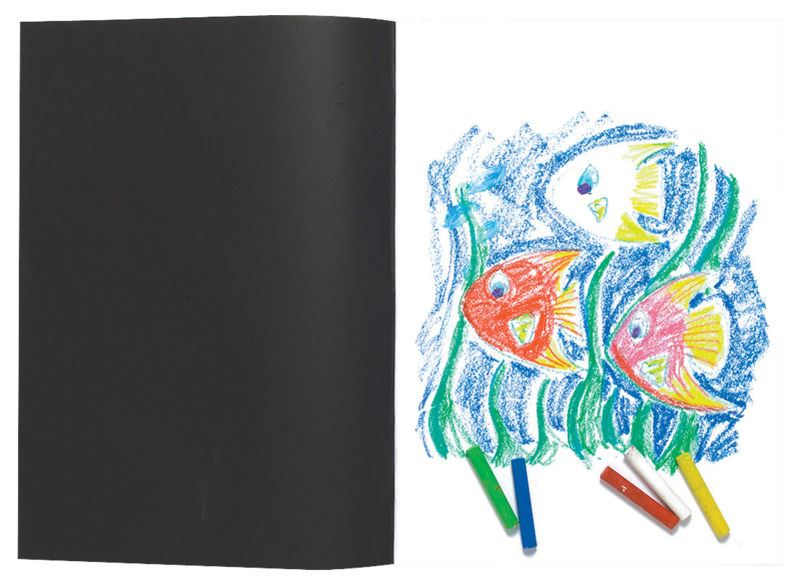 A3 Artist Sketch Book White Cartridge Paper Black Card Cover Art Pad Drawing Art