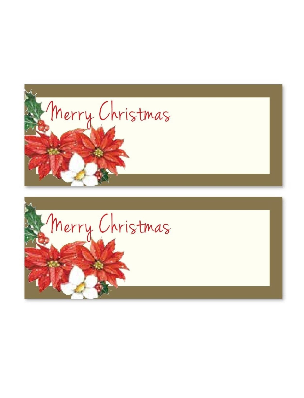 24 Poinsettia Xmas Party Table Name Number Place Cards Favour ...