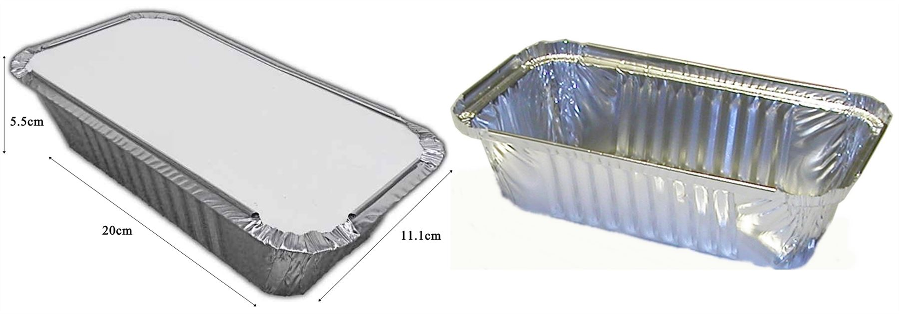 6 Large Silver Foil Food Trays Disposable Lids Catering