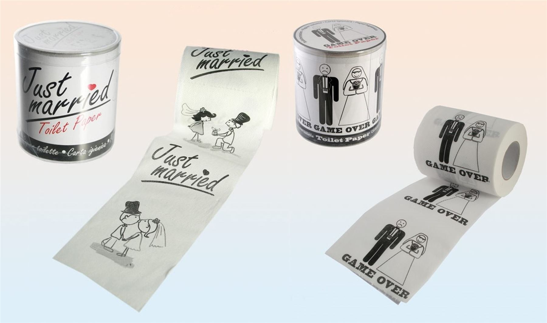 Novelty Bride Groom Wedding Toilet Paper Tissue Roll Party Gift ...