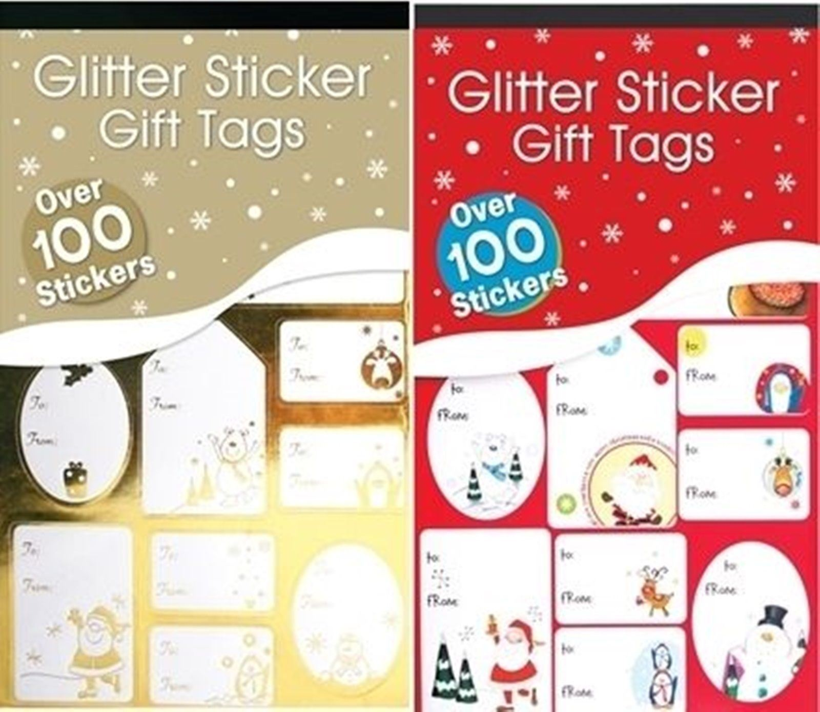 100 christmas sticker peel stick gift tags label xmas party present