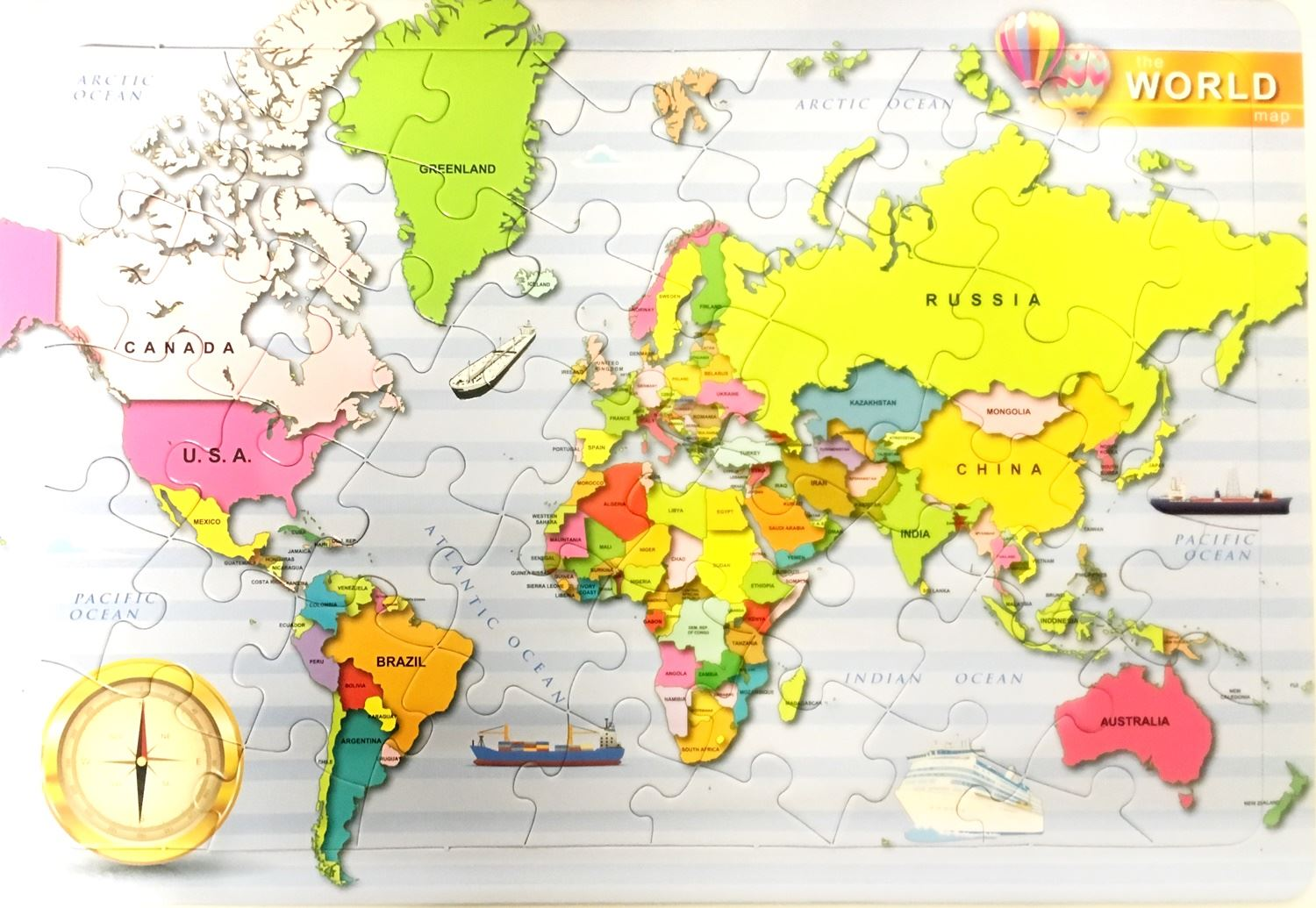 Jigsaw puzzle world map kids gift geography globe education atlas jigsaw puzzle world map kids gift geography globe education atlas learning gumiabroncs Images