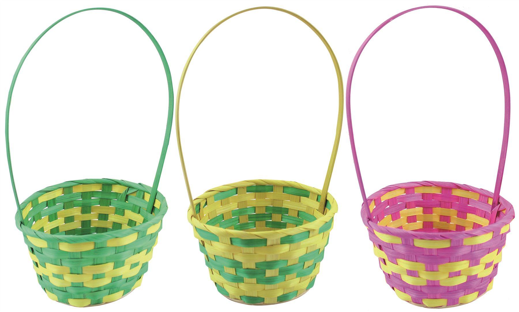 Bright color easter egg hunt wicker basket kid child party flower bright color easter egg hunt wicker basket kid child party flower craft gift bag negle Gallery